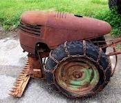 vintage farm tractors ,Walk Behind Garden Tractor , Dad Had One !~