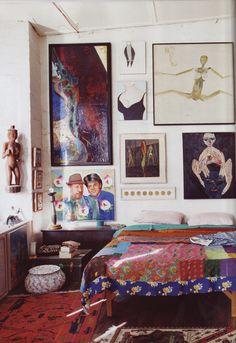 https://flic.kr/p/wXkXy   Ray Hughes art dealer   Love the bedspread. From Australian Vogue Living.