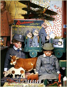 Dolls, from the Suomenlinna Toy Museum collection in Helsinki, Suomenlinna.