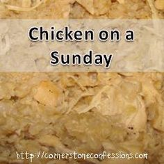 Chicken on a Sunday {Slow Cooker Chicken and Rice}