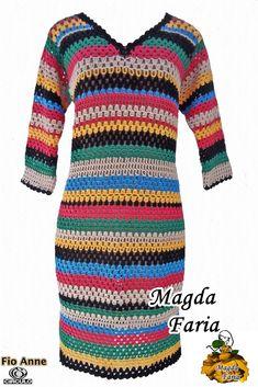 vestido estilo boho folk hippie listrado colors colorido croche,camicette e abiti croche,ブラウスやドレスcroche,Блузки и платья Крош,blouses and dresses croche,blusas em croche com gráficos, patrones, patterns,paleras,batas, blusas, blusas em croche, túnicas, túnicas em croche, paps de croche, croche paps, passo a passo em croche,blusas em croche mangas , receitas croche, revistas de croche, croche, roupas em croche, linhas de , boleros, casacos, camisas, calças, saias,croppeds, frete única…