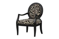 Linon Occasional Chair Zebra Print
