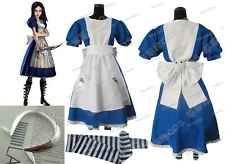 Alice Madness Returns  cosplay costume Custom Size Halloween
