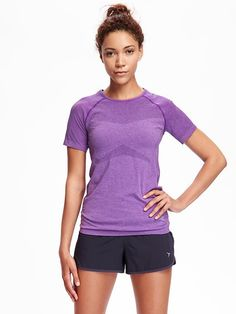 Go-Dry Fitted Short Sleeve Seamless Top for Women $24.94 $11.97 - $12.45