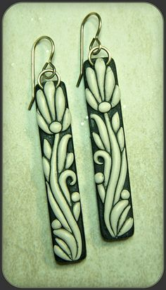 blackecruartnouveauearrings by Barb Fajardo, via Flickr
