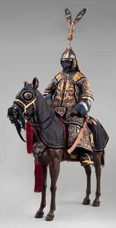 Chinese armor for horse and man.