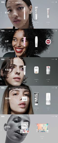 ecommerce makeup website design - Wix Website Ideas - DIY your own website with Wix. Website Layout, Web Layout, Layout Design, Font Design, Website Web, Website Ideas, Create Website, Custom Website, Design Web