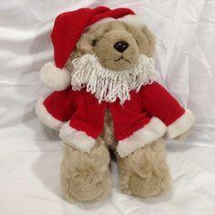"Teddy #bears  Santa Claus Red Suit Hat Beard Jointed 12"" International 1985 Plush #International #Christmas"