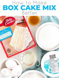 HOW TO MAKE BOX CAKE BETTER Take your box cake mix to the next level with this easy recipe! A few simple additions make it extra moist and delicious. Banana Sour Cream Cake, Cake Recipe With Sour Cream, Sour Cream Chocolate Cake, Sour Cream Pound Cake, Sour Cream Coffee Cake, Best Chocolate Cake, Homemade Vanilla Cake, Homemade Cakes, Perfect Cupcake Recipe