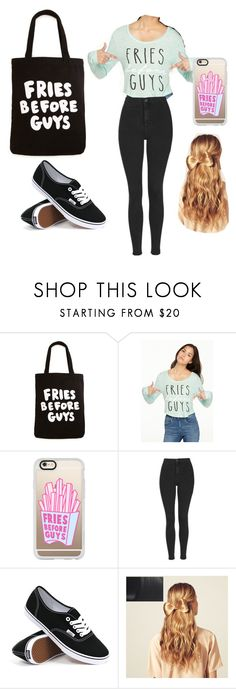 """""""Just to look cute outside on a warm sunny day."""" by ruhile ❤ liked on Polyvore featuring ban.do, Casetify, Topshop, Vans, Hershesons, women's clothing, women, female, woman and misses"""