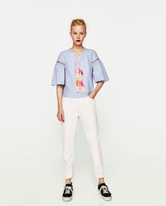 ZARA - WOMAN - TOP WITH BOW AND POMPOMS