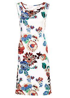 White Print Cowl Neck Dress | Holiday Fashion | Womens | Swimwear365