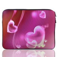 15\ 15.4\ 15.6\ Heart Print Neoprene Notebook Laptop Sleeve Bag Case for HP