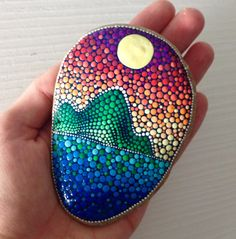 Big Dot Art Sunset stone Painted stone by CreateAndCherish