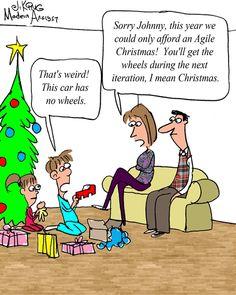 Humor - Cartoon: Merry Agile Christmas