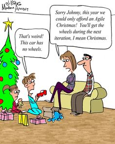 Humor - Cartoon: Merry Agile Christmas