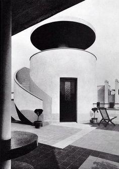 Robert Mallet Stevens (French, 1886-1945)   Villa des Frères Martel   Designed for brothers Jan and Joel Martel, both sculptors   Rue Mallet-Stevens 10, Paris   1926