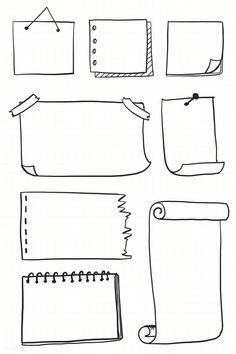 Bullet Journal Boxes, Bullet Journal Headers, Bullet Journal Banner, Bullet Journal Lettering Ideas, Bullet Journal Notebook, Bullet Journal School, Bullet Journal Inspiration, Book Journal, Journal Ideas