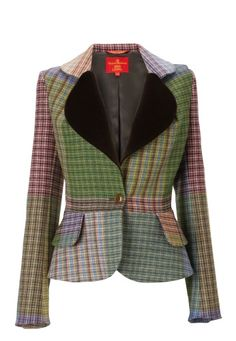 Don't judge me.  Heart Collar Harris Tweed Blazer Jacket from Vivienne Westwood