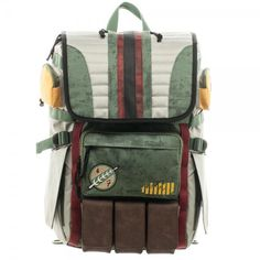 Star Wars: Boba Fett Laptop Backpack - Officially Licensed Star Wars Products - 100% Polyester - Adjustable Padded Straps - One Size Fits Most - Includes Laptop Compartment & Lots of Pockets - Holds a