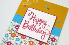 Festive Birthday by Jari - Cards and Paper Crafts at Splitcoaststampers