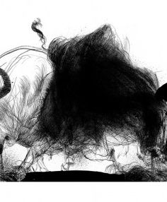 Fire breathing Oxen of Colchis White Ink, Black And White, Art Prints Online, American Gods, Rich Life, Moose Art, Fantasy, Illustration, Fire