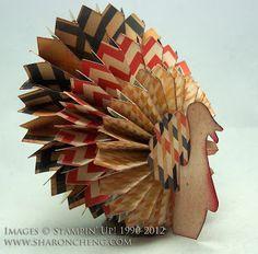 SHARING CREATIVITY and COMPANY: Thanksgiving Turkey Using Designer Rosette Die