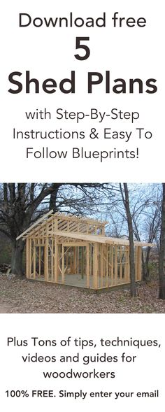 5 free shed plans Building A Shed, Building Plans, Woodworking Projects Diy, Woodworking Plans, Woodworking Furniture, Woodworking Basics, Woodworking Techniques, Woodworking Tools, Outdoor Projects