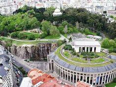Parque de Santa Margarita y Palacio de la ópera. A Coruña