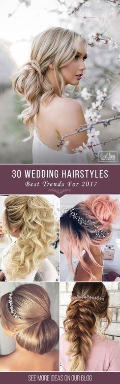 Bridal Hairstyles : Best Wedding Hairstyle Trends 2017 It is necessary to look for the most popu