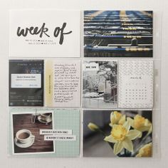 Roots, Wings & Wanderings : Project Life, Week 10 & 11 by Caiti_SM, via Flickr