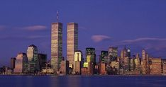 New York skyline with the twin towers