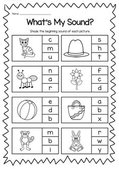 Practice Beginning Letter Sound Worksheet | enrichment letters ...