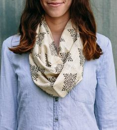 Black Compass Lightweight Infinity Scarf by Maelu on Scoutmob Shoppe