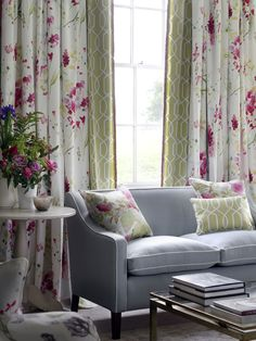 Avania prints, by Blendworth Fabrics & Wallcoverings. Spring/Summer 2015 - Dual-purpose, curtain and upholstery floral fabrics.