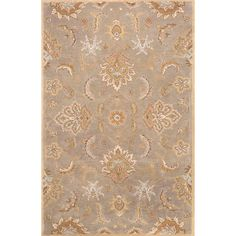 Sublime hues and graceful lines accentuate the traditional pattern motifs in this rug, an elegant and value-driven, durable, hand-tufted area rug. This sophisticated rug is for the discriminating cons...