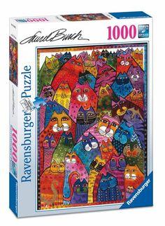 Puzzle Ravensburger de 1000 piezas - felinos gatos ( Ref:  0000019630 )
