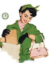 Vintage -The perfect wife and mother is always on time...yeah, right!