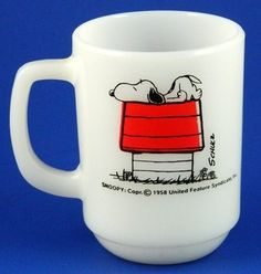 Snoopy Allergic to Morning Fire King Mug Vintage..I had this exact mug as a teenager