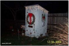 Potty #ExpediaWanderlust. An Outhouse at Christmas - time