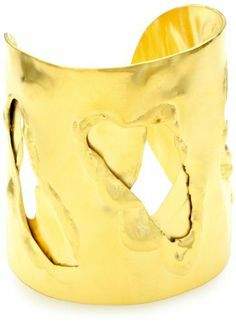Devon Leigh Free-Form Cut-Out Double-Layer 18k Gold Dipped Cuff Devon Leigh. $598.00. Made in USA. Measurements may vary slightly based on cuff being handmade.. Store in dry, covered place. Fits most wrists and can be adjusted slightly. Weight and shape vary slightly based on being handmade