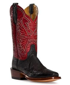 Cinch Classic Black Mad Dog Wingtip Cowgirl Boots - Square Toe