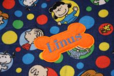 REVERSIBLE SNOOPY dog Blanket Personalized Dog Blanket PEANUTS Blanket Charlie Brown Blanket Embroidered dog blanket puppy blanket custom by RedBobbinDesigns on Etsy