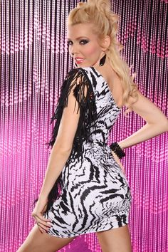 fringe zebra dress Sexy Party Dress 83ecd59a9