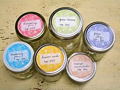 free printable canning labels - so cute!
