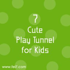 7 Cute Play Tunnel for Kids Play Tunnel, Crafts For Kids, Cute, Crafts For Children, Kids Arts And Crafts, Kawaii, Kid Crafts, Craft Kids