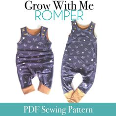 selbstgemacht ecke Apple Tree On The Grow Romper *PDF Sewing Pattern* Grow With Me Romper Grow-With-Me Playsuit Baby and Kids Clothing Sewing Pattern Baby Outfits, Kids Outfits, Cool Outfits, Baby Clothes Patterns, Clothing Patterns, Dress Patterns, Sewing Baby Clothes, Paper Patterns, Baby Patterns