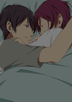 cutest fanart, rinharu, I don't ship it but it is cute