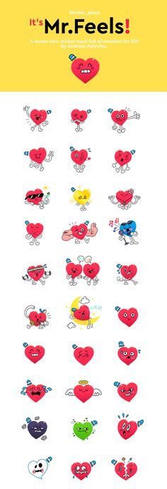 Mr.Feels Messenger Stickers on Behance
