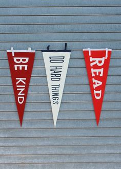 Felt pennants from Gibbs Smith are a great way to show your support for just about any noble pursuit.